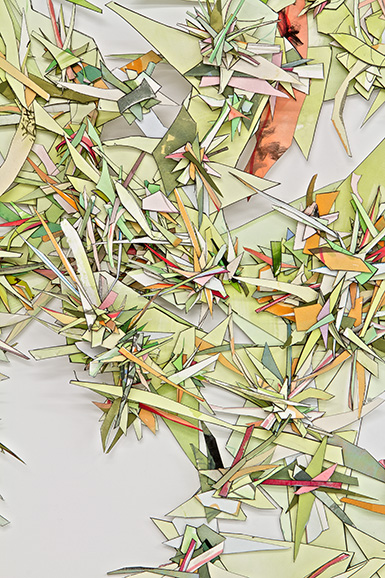 © 2017 Selena Beaudry. All rights reserved.  - Walking On Nettles, Close up 1 — Cut paper, gouache, acrylic, pencil and marker, 2013